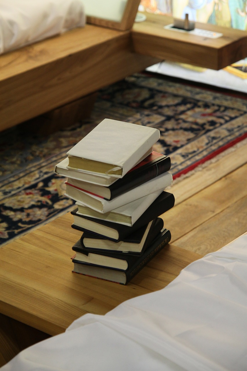 books, stack, book